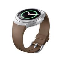Силиконовый ремешок для смарт часов Samsung Gear S2 светло-коричневый