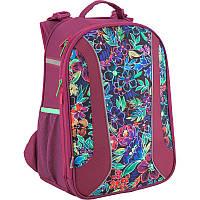 Ортопедический каркасный рюкзак kite k18-703m-2 flowery для девочек младшей школы