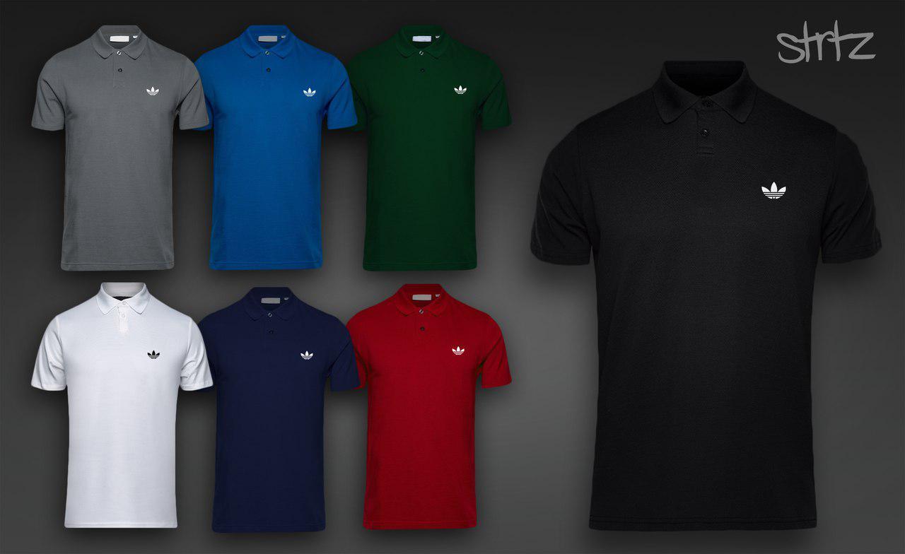 Молодежная футболка на пуговицах от адидас ориджиналс Adidas Originals