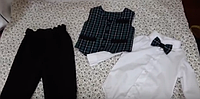 Костюм на мальчика на 1 год. Бодик, брюки, жилетка и бабочка., фото 1