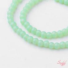 Стеклянная бусина 4мм лаковая гладкая для рукоделия цвет светло-зеленый