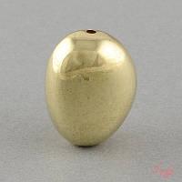 Акриловая бусина 24х18мм темное золото для рукоделия
