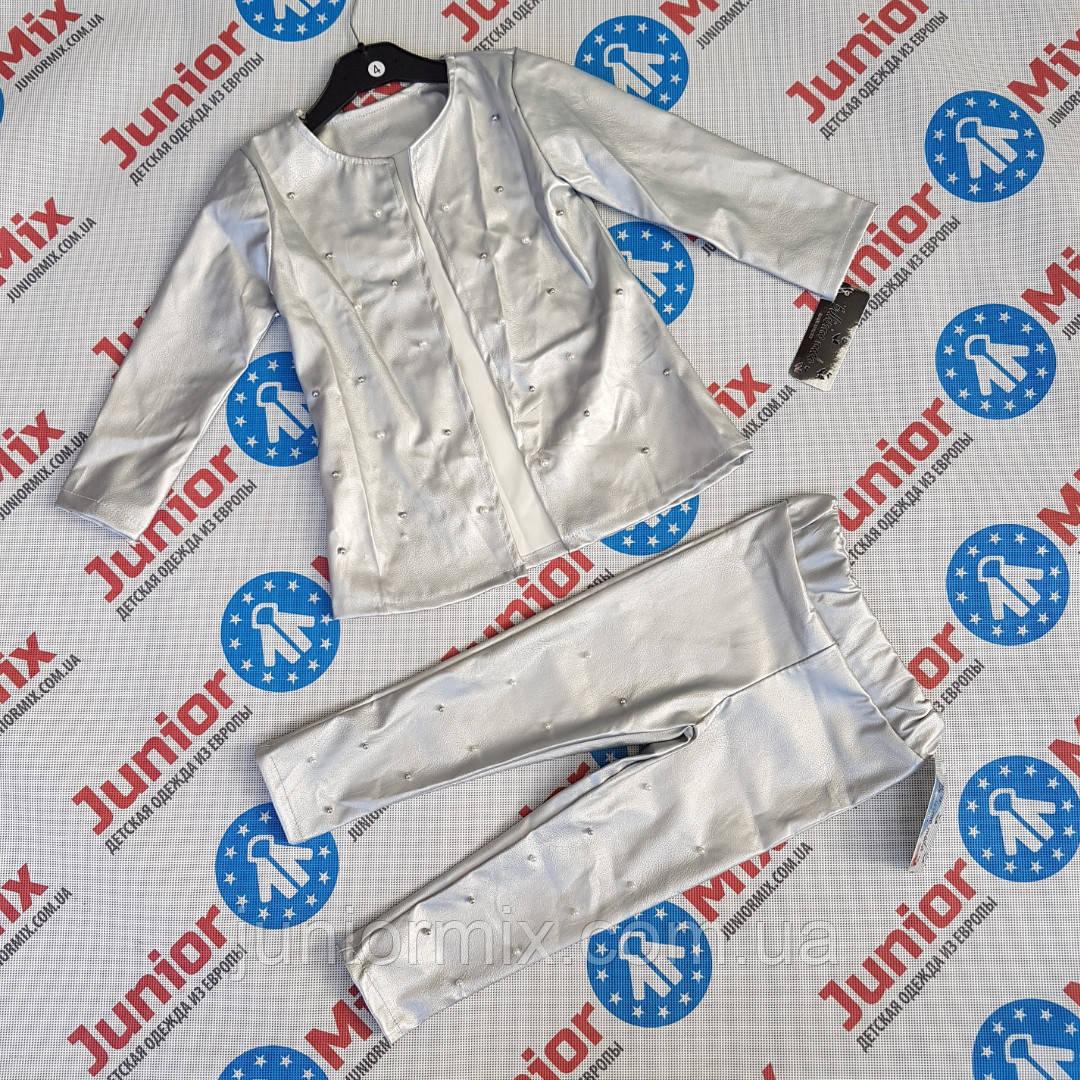 Детские костюмы  из кожзама для девочек  оптом Bellisimo Moda