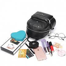 Женский мини рюкзак Suivea черный, фото 2