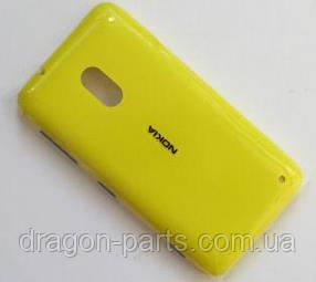 Задняя крышка  Nokia Lumia 620 желтая оригинал , 02500T0