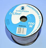 Кабель акустический CCA прозрачный 2х0,50мм кв. Cabletech KAB0354  бухта-100м