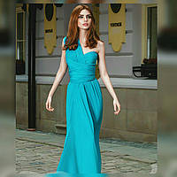 Длинное голубое платье - трансформер.