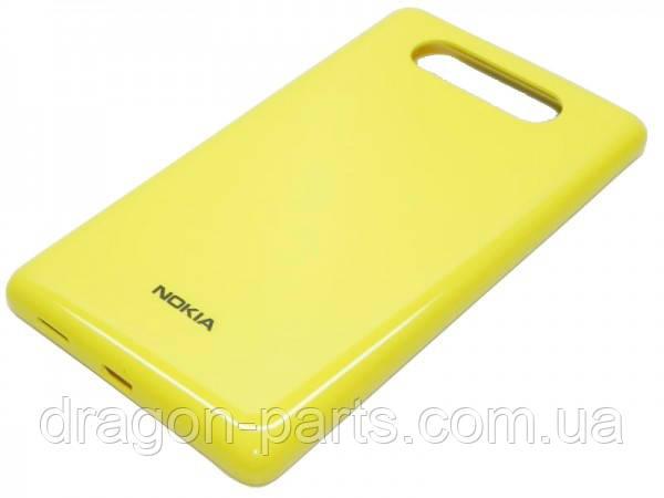 Задняя крышка  Nokia Lumia 820 желтая оригинал , 0259968