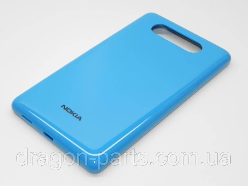 Задняя крышка  Nokia Lumia 820 синяя оригинал , 0259969
