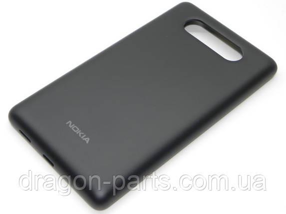 Задняя крышка  Nokia Lumia 820 черная оригинал , 02501T7, фото 2