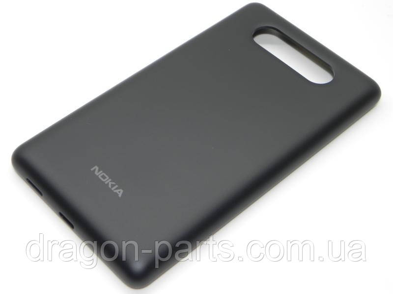Задняя крышка  Nokia Lumia 820 черная оригинал , 02501T7