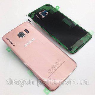 Задняя крышка стекляная Samsung galaxy S7 Edge SM-G935 Pink-Gold, GH82-11510E оригинал