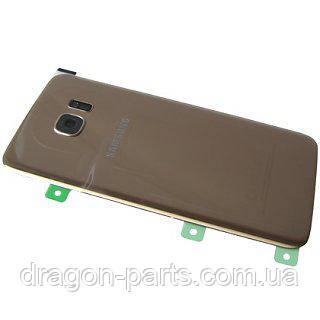 Задня кришка скляна Samsung galaxy S7 Edge SM-G935 Gold, GH82-11510C оригінал, фото 2