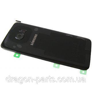 Задняя крышка стекляная Samsung galaxy S7 Edge SM-G935 Black, GH82-11510A оригинал