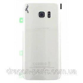Задняя крышка стеклянная Samsung galaxy S7 Edge SM-G935 Silver, GH82-11510B оригинал