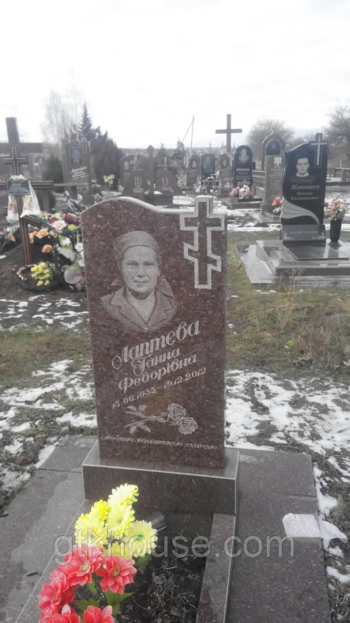 Памятники красный гранитный (Токовский 1200*600*80) - GTKHOUSE в Днепре