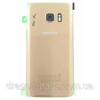 Задняя крышка стеклянная Samsung galaxy S7 SM-G930 Gold, GH82-11514C оригинал