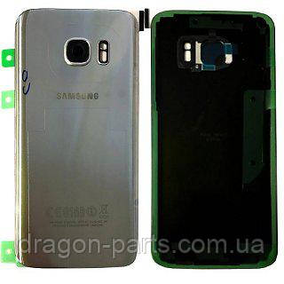 Задняя крышка стеклянная Samsung galaxy S7 SM-G930 Silver, GH82-11514B оригинал
