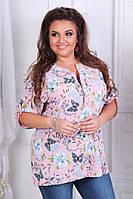 Жіноча блузка батал (56,58,60,62) купити оптом, фото 1
