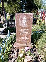Памятники красный гранитный(Токовский 900*450*60)ЭКОНОМКА