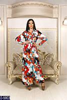 Женское нарядное платье длинное абстракция 42 44 46 размер новинки опт розница