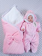 """Зимний Набор на выписку для новорожденного """"Зимняя сказка"""" (розовый), фото 1"""