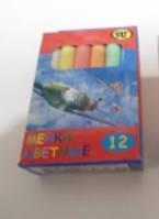 Мелки цветные 12 штук упаковка 5 штук