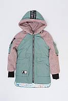 Стильная Деми Куртка для Девочки Мятная №2 Рост 122-177 см