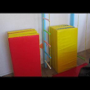 Спортивный складной мат 200-100-10 см с 4-х частей , фото 2