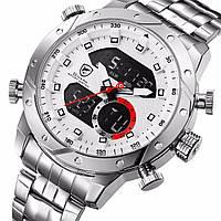 Мужские часы SHARK Men's LED Anolog Dual Stainless Steel SH589