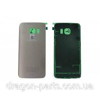 Задняя крышка стеклянная Samsung galaxy S6 Edge SM-G925 Gold, GH82-09756C оригинал, фото 2