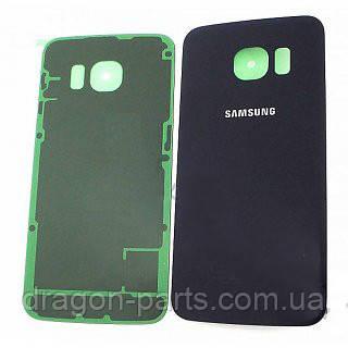 Задняя крышка стеклянная Samsung galaxy S6 Edge SM-G925 Black, GH82-09756A оригинал