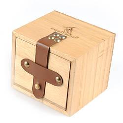 Коробка подарочная квадратная  для часов Bobo Bird с кожаной пряжкой