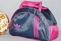 Спортивная сумка Adidas модель MB. (серый+розовый)