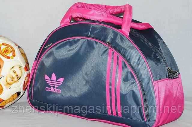 d62afebebb03 Спортивная сумка Adidas модель MB. (серый+розовый) - Интернет Магазин