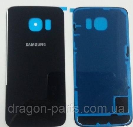 Задняя крышка стеклянная Samsung galaxy S6 SM-G920 Black, GH82-09717A оригинал