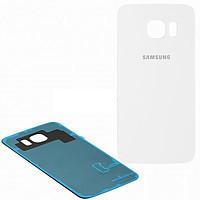 Задняя крышка стеклянная Samsung galaxy S6 SM-G920 White, GH82-09717B оригинал