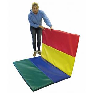 Спортивный складной мат 300-100-5 см с 4-х частей , фото 2