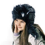 Детская шапка зимняя для девочек КОЛИН оптом размер 52-54-56, фото 3