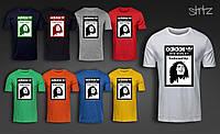 Спортивная футболка с принтом городская хлопковая адидас боб марли Adidas Bob Marley