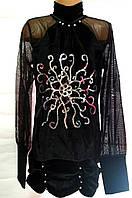 Туника-платье для девочки 12-15 лет Бархат паетки