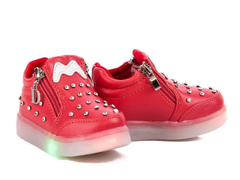 Мигающие демисезонные ботинки, 14 и 14,5 см