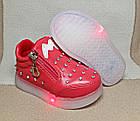 Мигающие демисезонные ботинки, 14 и 14,5 см, фото 2
