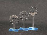 Акриловый прозрачные подставки Цветок под серьги комплект 3 штуки, фото 1