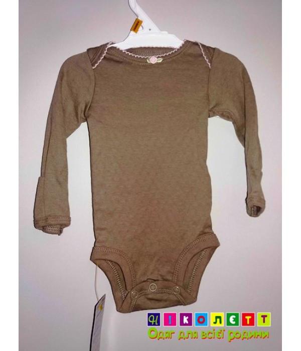 Боди для новорожденной девочки коричневый Детский - ООО Николетт в Запорожье 08908609d5b56
