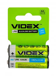 Батарейка alcaline Videx R6P/AA 2pcs SHRINK CARD
