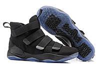 Мужские кроссовки Nike Lebron Soldier 11 Black Реплика, фото 1