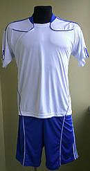 Футбольная форма взрослая бело-синяя