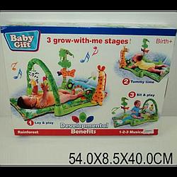 """Килимок для малюків """"Стежок. ліс """" 3059 (602669) батар., муз., дуга, погрем., у кор.54*40*8, 5см"""