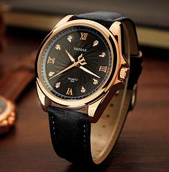 Мужские часы Yazole MW324-325 Black Black